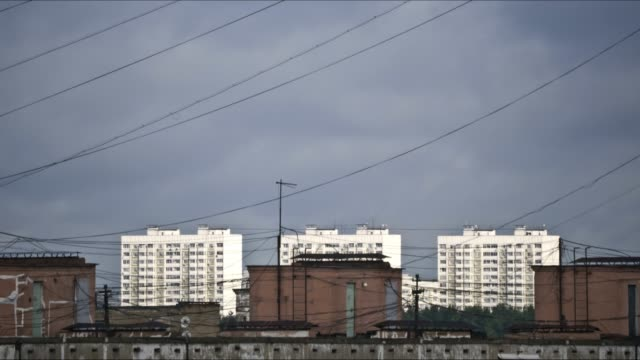 urban residential buildings - cable tv stock videos & royalty-free footage