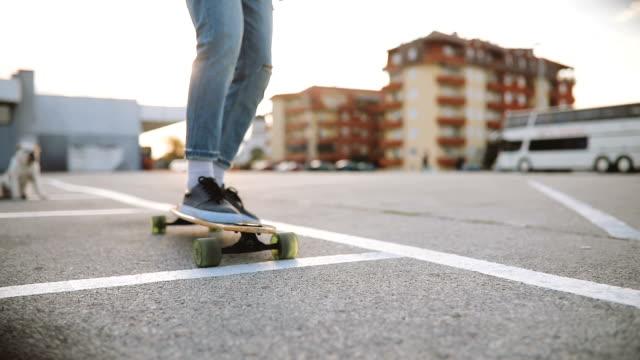 Urban Skateboarder and Dog
