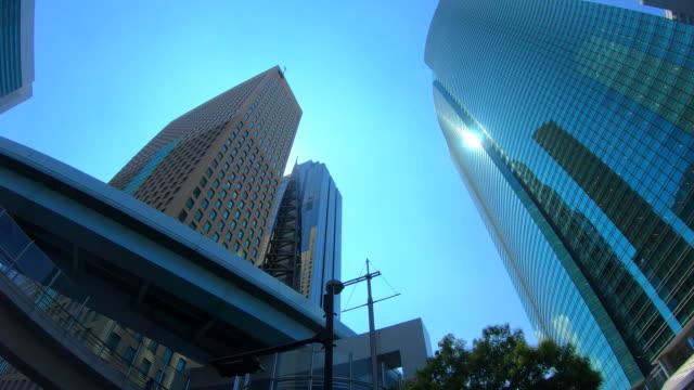 urban skyscraper from below - plusphoto stock videos & royalty-free footage