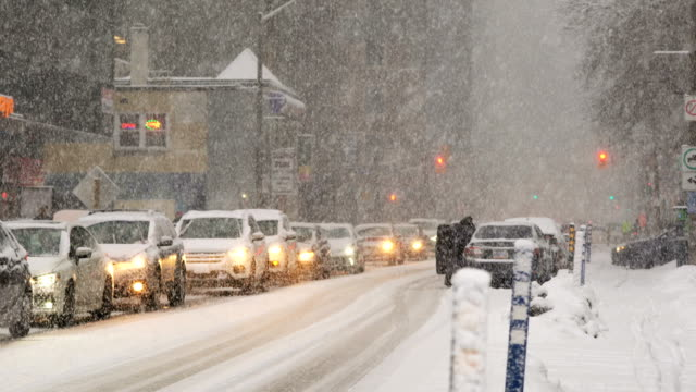 urban snow storm - facade stock videos & royalty-free footage