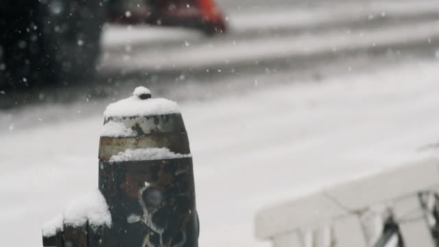 urban snowday - snowplough stock videos & royalty-free footage