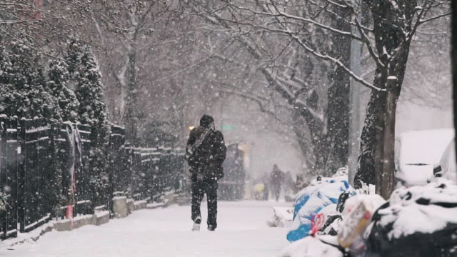 urban snowday - cold temperature stock videos & royalty-free footage