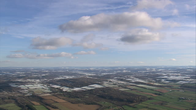 aerial urban sprawl and a few patchwork agricultural fields / new york, united states - patchwork stock videos & royalty-free footage
