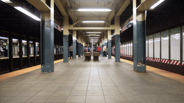 urban time lapse  4k - subway station stock videos & royalty-free footage