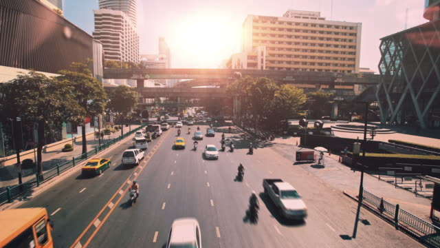 urban traffic. bangkok, thailand - bangkok stock videos & royalty-free footage