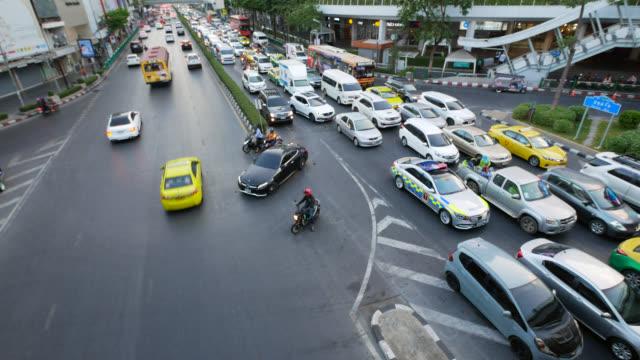 バンコクの都市交通渋滞 - traffic jam点の映像素材/bロール