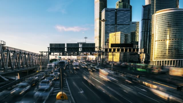 urban traffic time lapse. moscow. russia - moscow russia stock videos & royalty-free footage