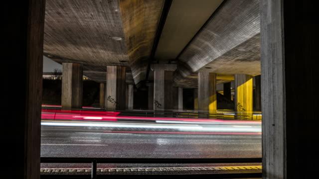 vídeos y material grabado en eventos de stock de urban lapso de tiempo de tráfico - luz trasera