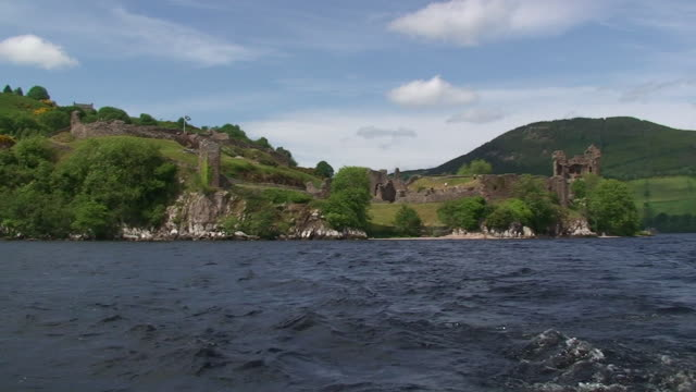urquhart castle from loch ness - scottish highlands stock videos and b-roll footage