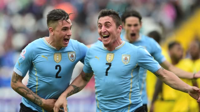Uruguay badly missing Luis Suarez launched their Copa America defence with a 10 win over Jamaica on Saturday with Atletico Madrid winger Cristian...