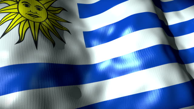 uruguay flag waving, looping - waving icon stock videos & royalty-free footage