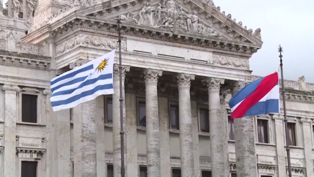 uruguay heads to the polls on november 24 for the second round of the presidential elections where leftist candidate daniel martinez and center right... - uruguay stock videos & royalty-free footage
