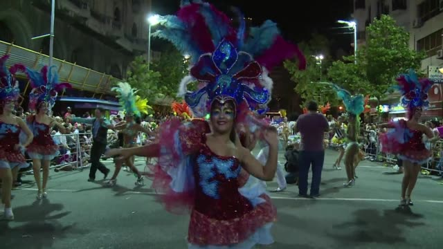 uruguay kicks off its 40 day long carnival the longest in the world - uruguay stock videos & royalty-free footage