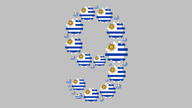 uruguayan number nine - numero 9 video stock e b–roll