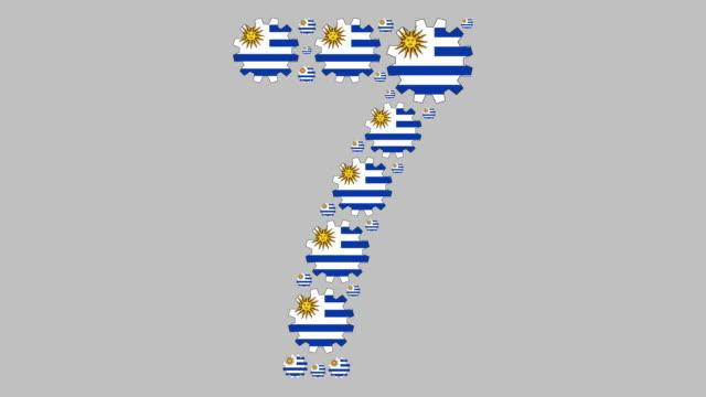 uruguayan number seven - uruguaian flag stock videos & royalty-free footage