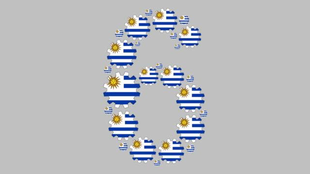 uruguayan number six - uruguaian flag stock videos & royalty-free footage