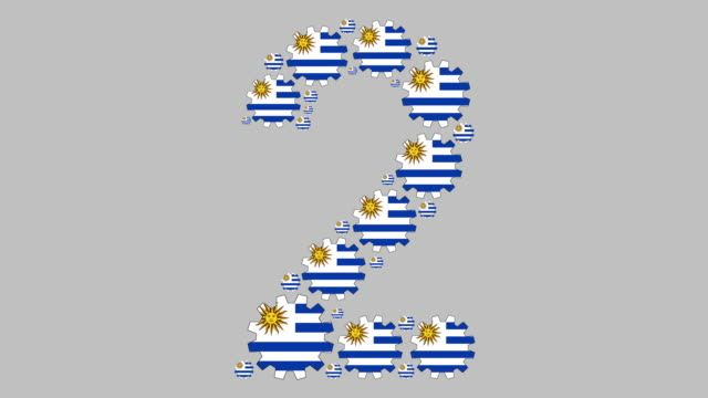 uruguayan number two - uruguaian flag stock videos & royalty-free footage