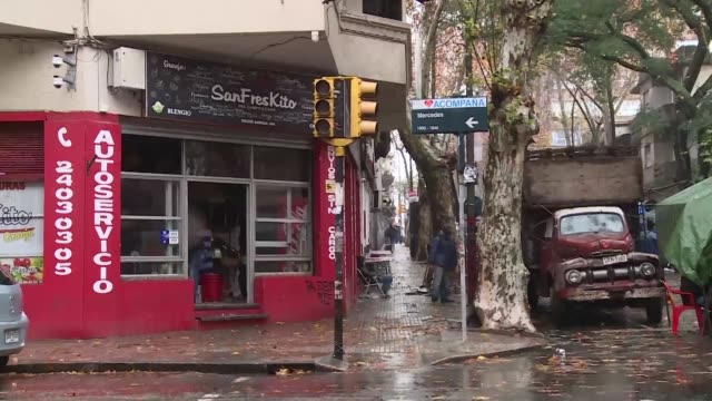 uruguayan shop owners wake up to a rainy sunday and a massive power outage that hampered business and left around 48 million people without... - montevideo stock videos & royalty-free footage
