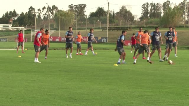 Uruguays national soccer team prepares for Saturdays game against the Venezuelan team a tough opponent on the way to the Brazil 2014 World Cup CLEAN...