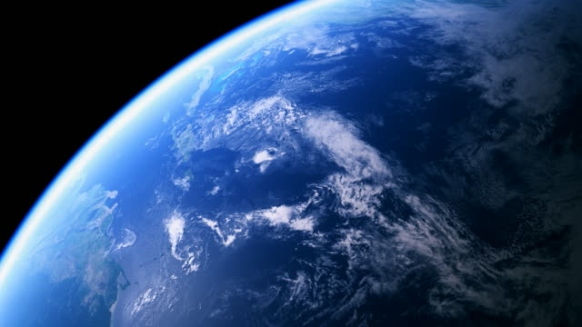 usa, florida and south america seen from space in 4k - spazio cosmico video stock e b–roll