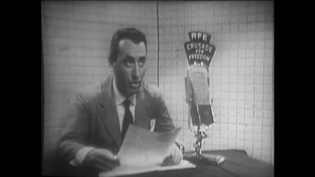 vidéos et rushes de part 2 special program discussing the role of radio free europe during its 10th anniversary circa july 1 in the usa. this archival footage chronicles... - fréquence radio