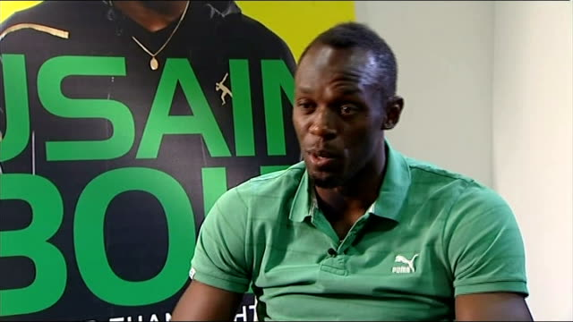 usain bolt autobiography; bolt interview sot - think he surely got that message ... team is now much better - autobiography stock videos & royalty-free footage
