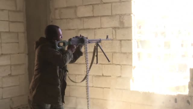 usbacked syrian democratic forces continued to battle to oust the islamic state group from pockets of control in its former syrian stronghold raqa... - syrian democratic forces stock videos & royalty-free footage