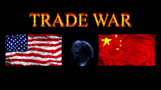 u.s.-china trade war - boxing stock videos & royalty-free footage