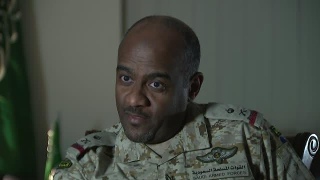 use of british cluster bombs by saudi arabia in yemen conflict; saudi arabia: riyadh: brigadier general ahmad asiri interview sot - early in the 80s,... - riyadh stock videos & royalty-free footage