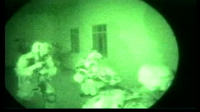 use of special forces lib afghanistan kandahar night green nightscope shots us special forces raiding military compound - kandahar afghanistan stock videos & royalty-free footage