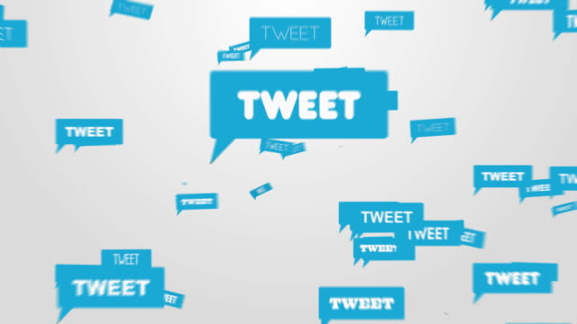 twitting utente - messaggistica online video stock e b–roll