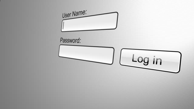 Username and Password Log In