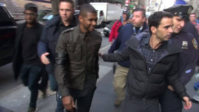 usher arrives at the today show studio at celebrity sightings in new york on december 10, 2015 in new york city. - usher stock videos & royalty-free footage