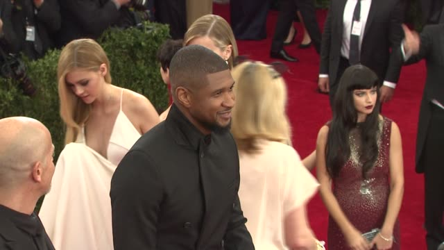Usher at China Through The Looking Glass Costume Institute Benefit Gala Arrivals at Metropolitan Museum of Art on May 04 2015 in New York City