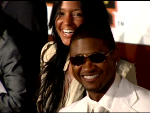usher at the 19th annual soul train music awards arrivals at paramount studios in hollywood, california on february 28, 2005. - usher stock videos & royalty-free footage