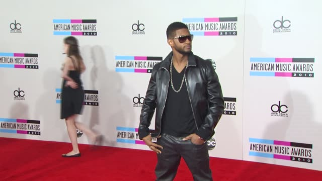 usher at the 2010 american music awards arrivals at los angeles ca - american music awards stock videos and b-roll footage