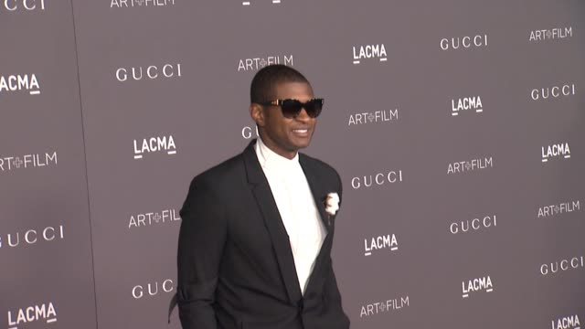 usher at the 2017 lacma art + film gala honoring mark bradford and george lucas and presented by gucci at lacma on november 4, 2017 in los angeles,... - usher stock videos & royalty-free footage