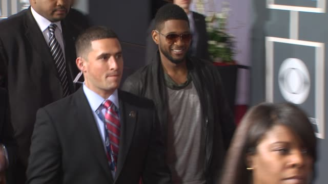 usher at the 53rd grammy awards - arrivals part 2 at los angeles ca. - usher stock videos & royalty-free footage