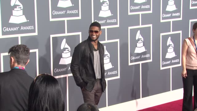 usher at the 53rd grammy awards - arrivals part 3 at los angeles ca. - usher stock videos & royalty-free footage