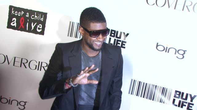 usher at the keep a child alive's 7th annual black ball - red carpet at new york ny. - usher stock videos & royalty-free footage