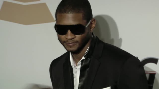 usher at the the recording academy & clive davis present the 2010 pre-grammy gala at beverly hills ca. - usher stock videos & royalty-free footage