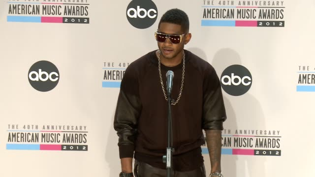 usher on dick's long tradition at the 40th american music awards - press room on in los angeles, ca. - usher stock videos & royalty-free footage