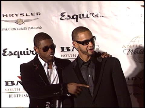 usher raymond at the clive davis' 2004 american music awards party on november 14, 2004. - アッシャー点の映像素材/bロール