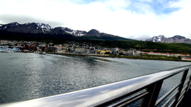 ushuaia aerial view, argentina - argentina stock videos & royalty-free footage