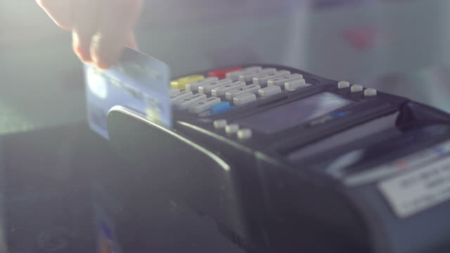 using a credit card reader - credit card stock videos and b-roll footage