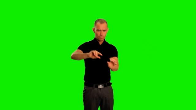 vidéos et rushes de à l'aide d'un écran tactile - écran tactile