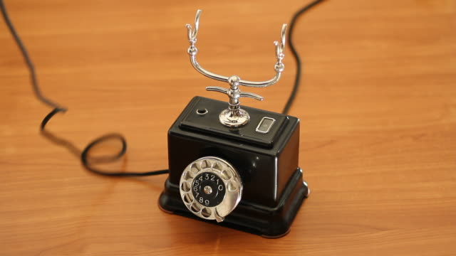 using a vintage telephone - pjphoto69 stock videos & royalty-free footage