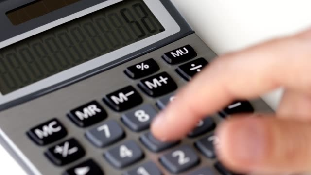 using calculator - close-up - calculator stock videos & royalty-free footage