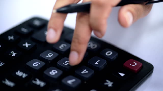 using calculator|dealing with finance - bank statement stock videos & royalty-free footage