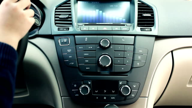 using car audio stereo system - radio stock videos & royalty-free footage
